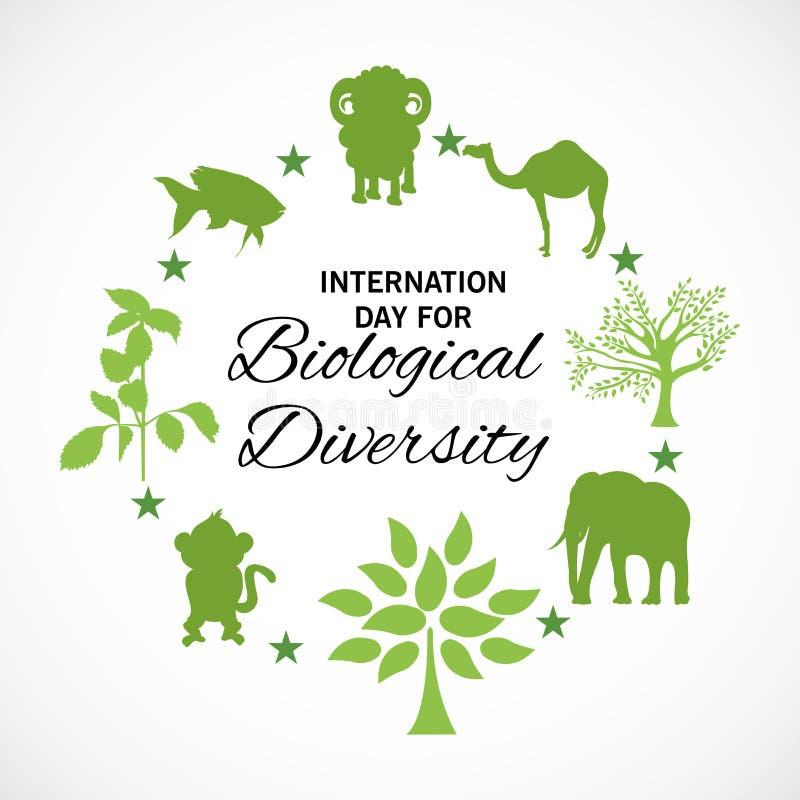 Internationell dag för biologisk mångfald stock illustrationer