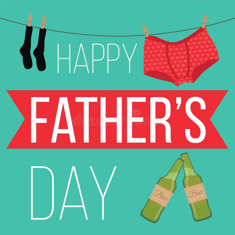 Internationell dag för fader` s Affisch hälsningkort, baner Vektordesign eps10 stock illustrationer