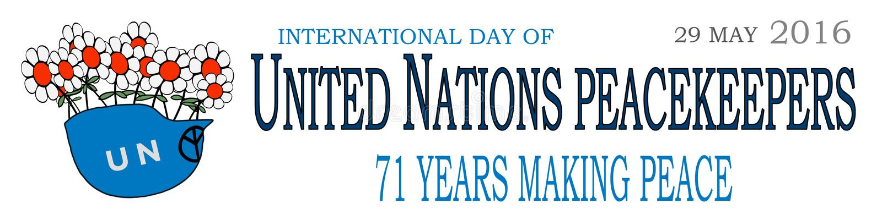 Internationell dag 1 för fredsbevarare vektor illustrationer