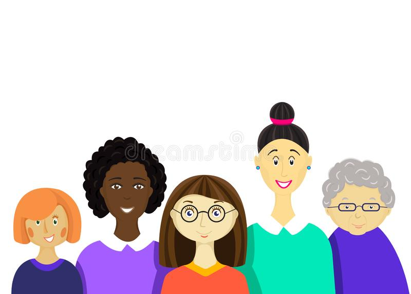 Internationell dag för kvinna` s stock illustrationer