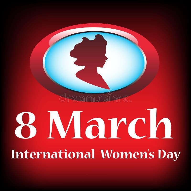 Internationell dag för kvinna` s royaltyfri illustrationer