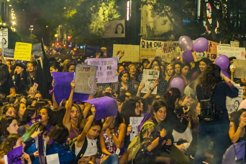 Internationell dagmars för kvinnor, Montevideo, Uruguay royaltyfria foton