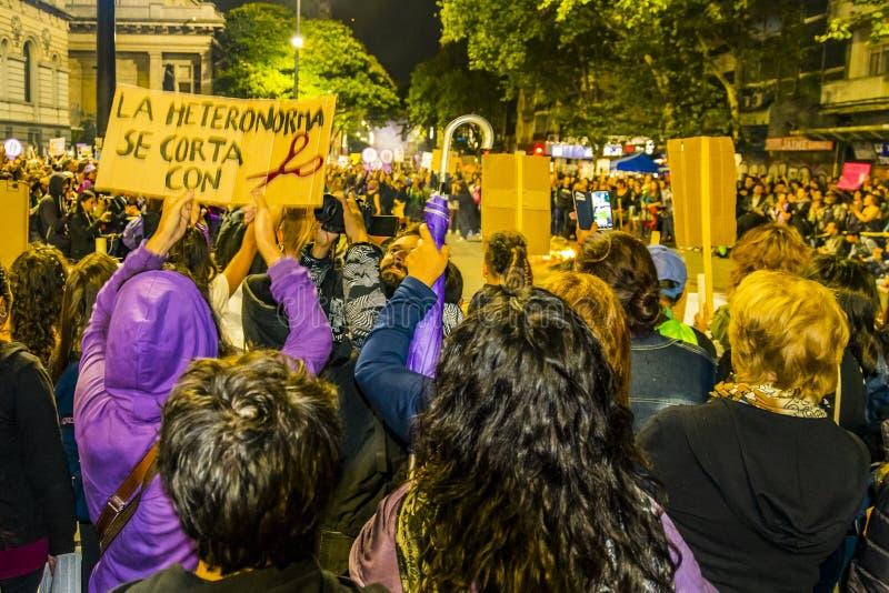 Internationell dagmars för kvinnor, Montevideo, Uruguay arkivfoto