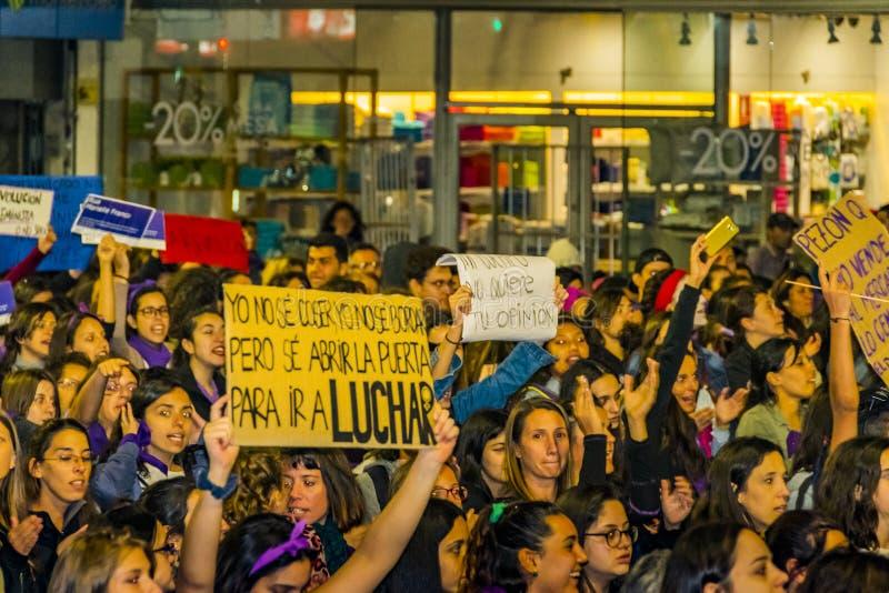 Internationell dagmars för kvinnor, Montevideo, Uruguay royaltyfri foto