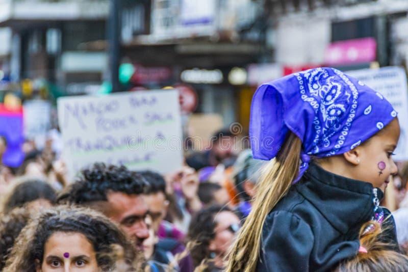 Internationell dagmars för kvinnor, Montevideo, Uruguay royaltyfri bild