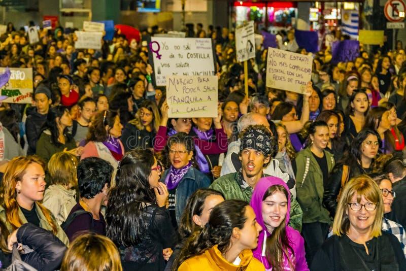 Internationell dagmars för kvinnor, Montevideo, Uruguay royaltyfri fotografi