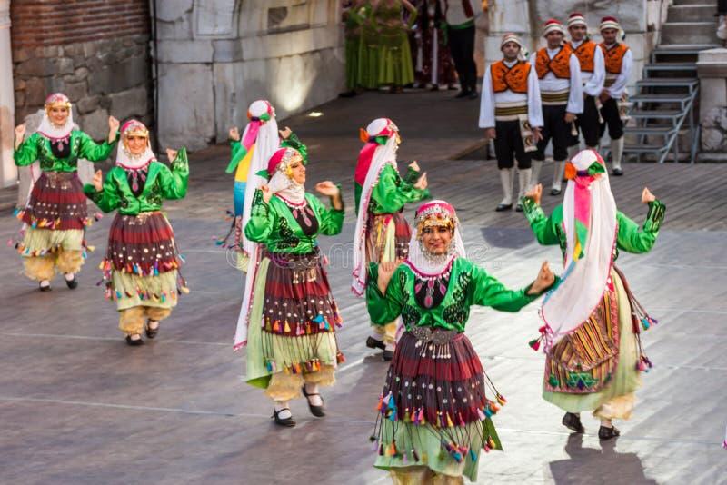 internationell festival 21-st i Plovdiv, Bulgarien arkivbilder