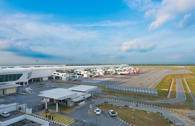 Internationell flygplats för KLIA 2, Kuala Lumpur, Malaysia royaltyfri bild