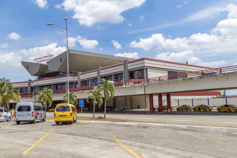 Internationell flygplats Jose Marti Havana, Kuba royaltyfria bilder