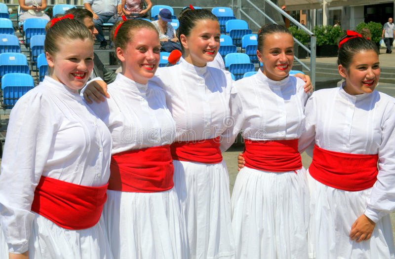 Internationell folklorefestival, Zagreb 2015 5 arkivfoto