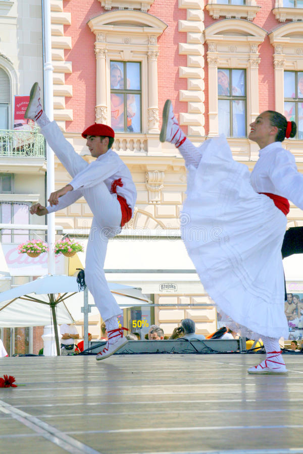 Internationell folklorefestival, Zagreb 2015 3 arkivbild