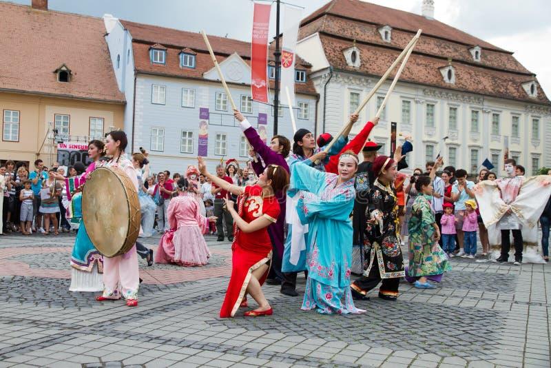 internationell gatateater för festival royaltyfria foton