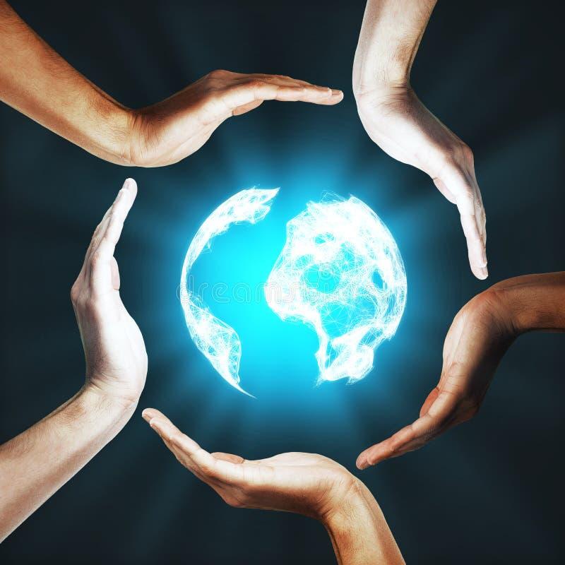 Internationell global affärsidé royaltyfria bilder