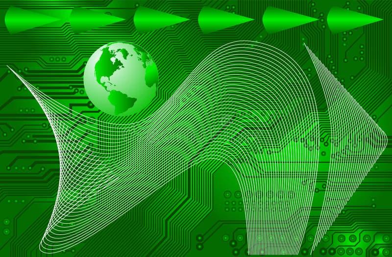 internationell internetvektor för connectivity vektor illustrationer