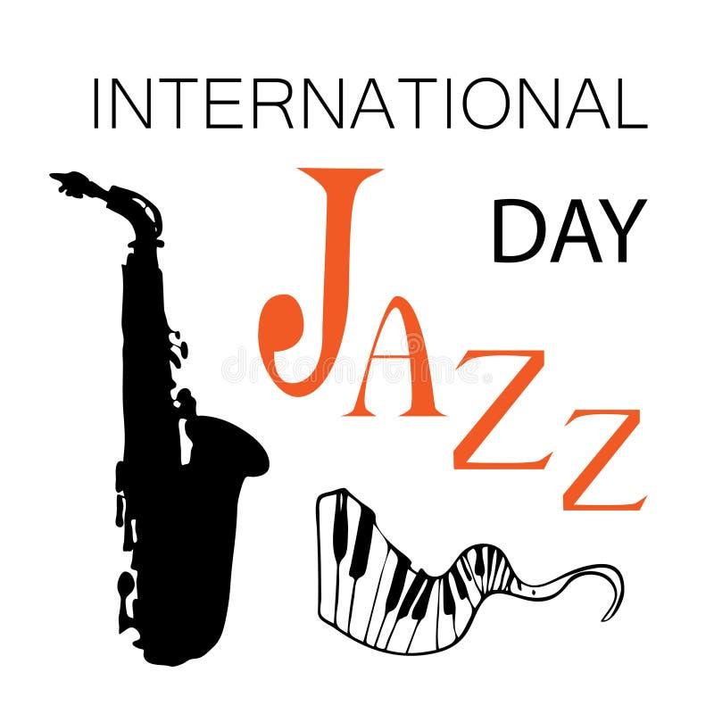 Internationell Jazz Day vektorillustration stock illustrationer