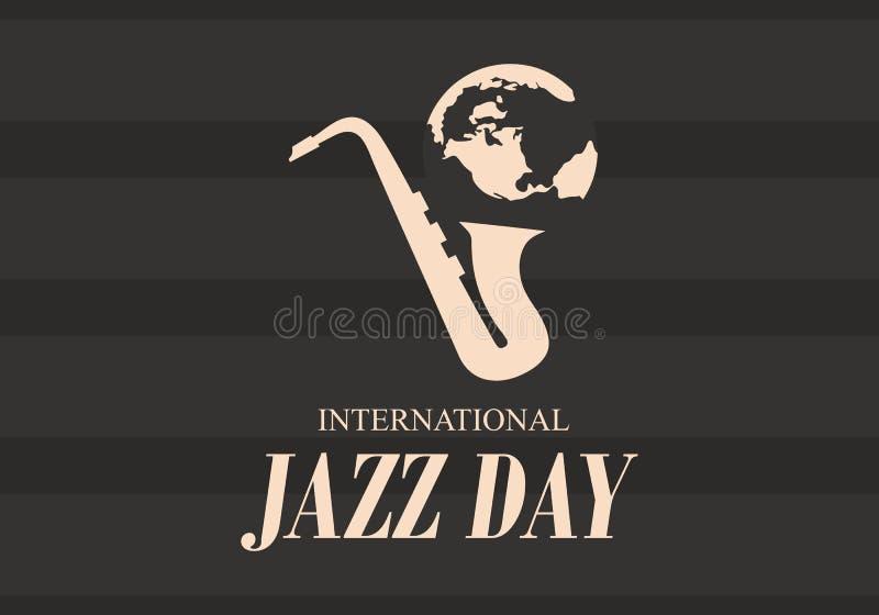 Internationell Jazz Day vektorillustration royaltyfri illustrationer
