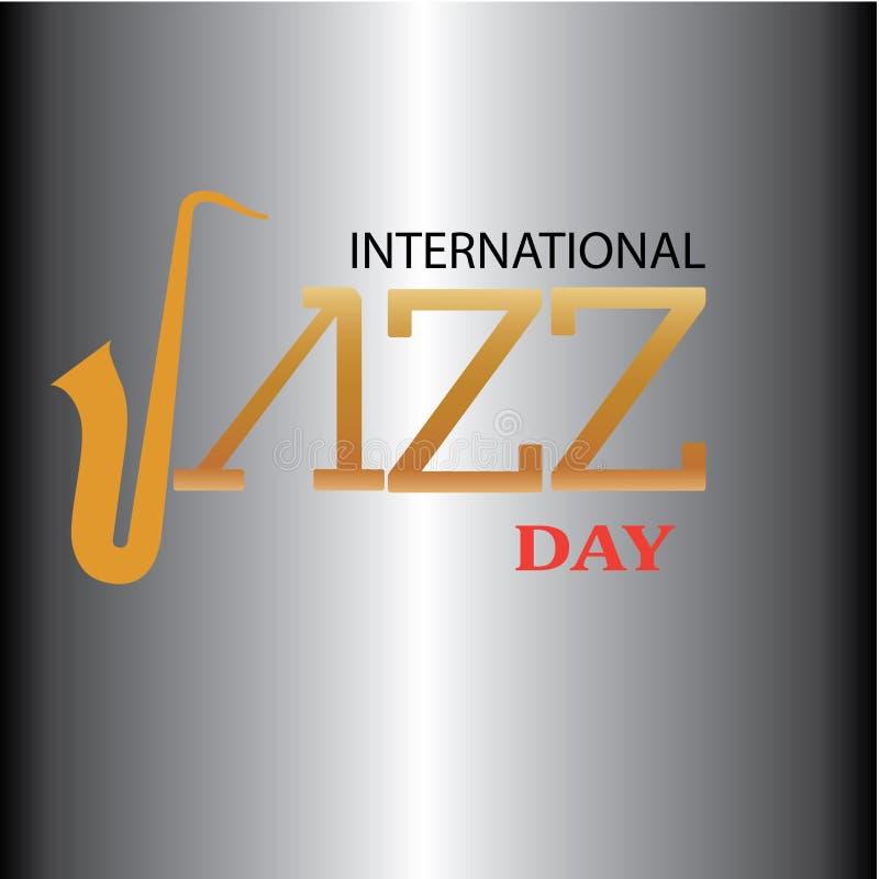 Internationell Jazz Day vektorillustration - Mappen f?r vektorn stock illustrationer