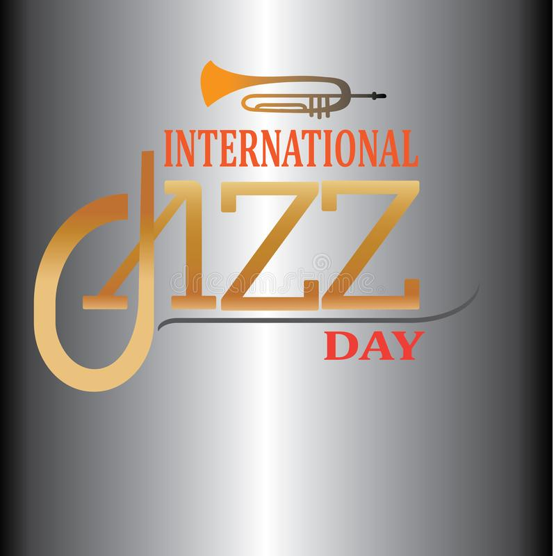 Internationell Jazz Day vektorillustration - Mappen f?r vektorn vektor illustrationer