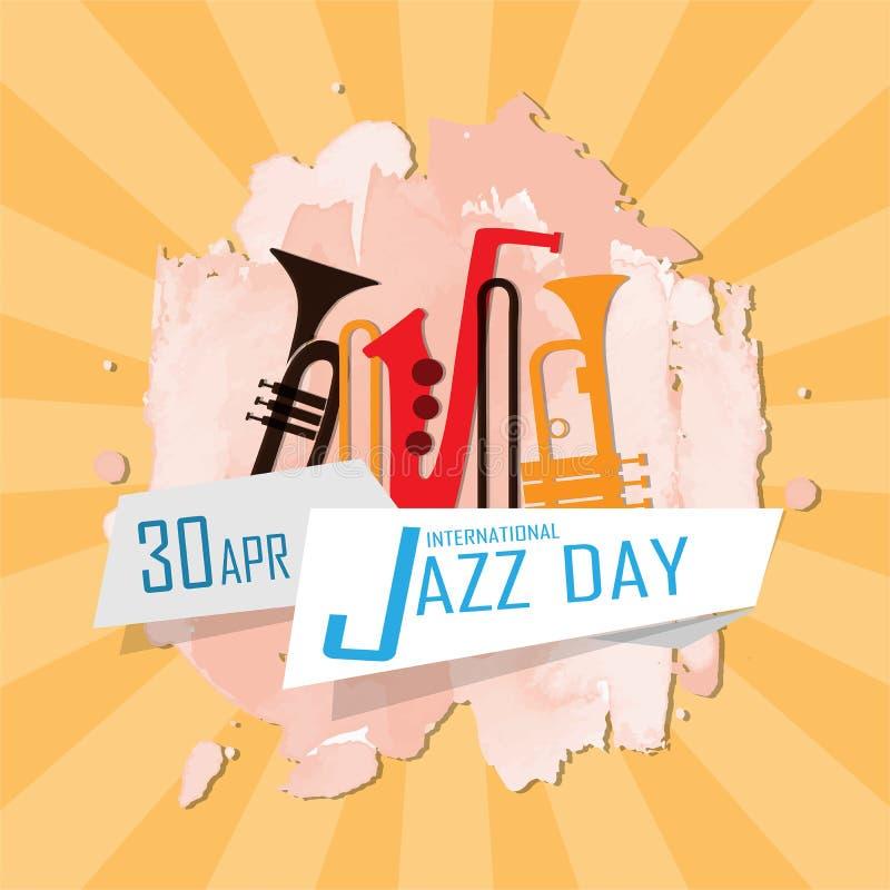 Internationell jazzdag royaltyfri illustrationer