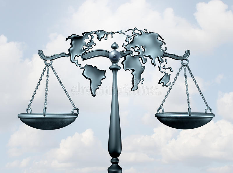 internationell lag stock illustrationer