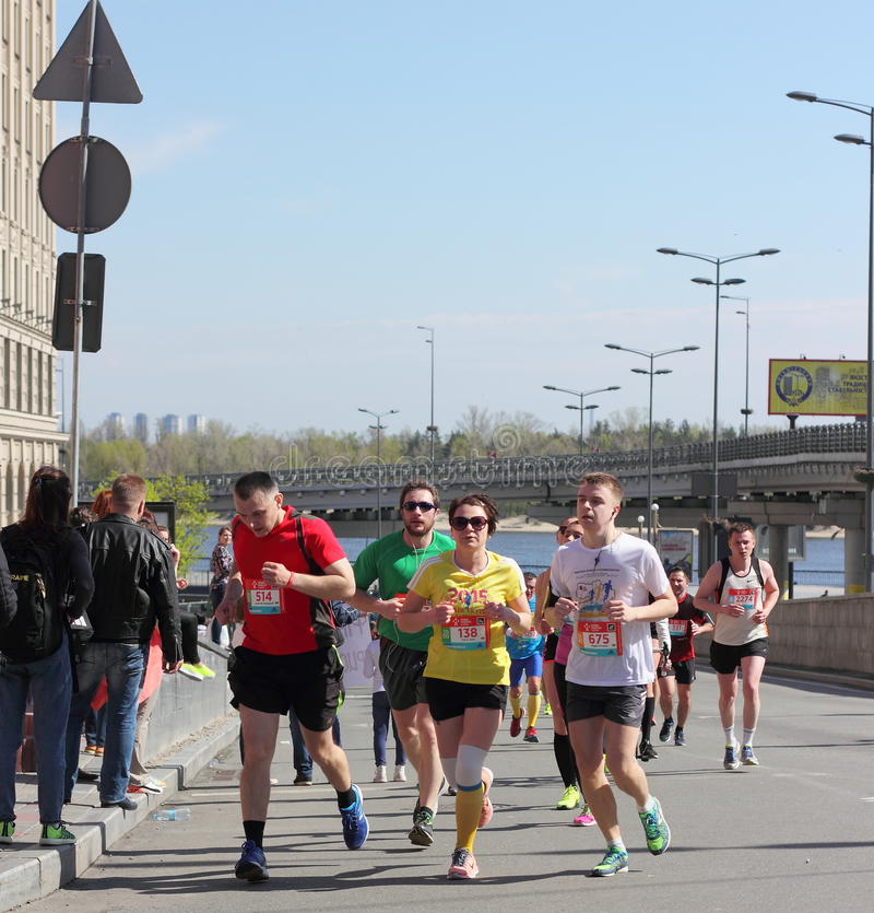 Internationell maraton royaltyfri bild