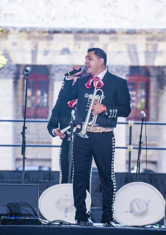 Internationell mariachi- & Charros festival fotografering för bildbyråer