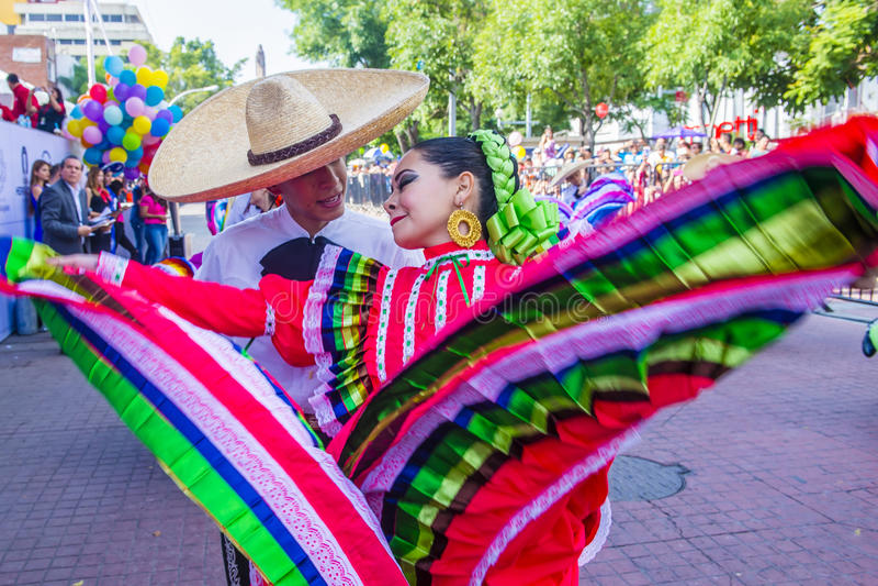 Internationell mariachi- & Charros festival royaltyfria foton
