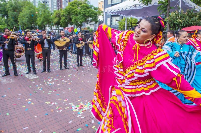 Internationell mariachi- & Charros festival arkivbilder