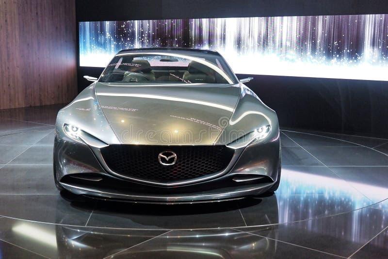internationell motorisk show 2018 för 88th Genève - Mazda visionbegrepp arkivfoto