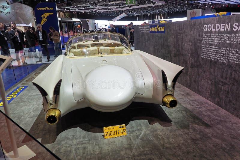 internationell motorshow f?r 89th Gen?ve - guld- Sahara II arkivfoto