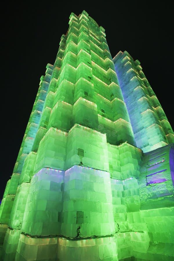 Internationell is och festival för snöskulptur, Harbin, Kina arkivfoton
