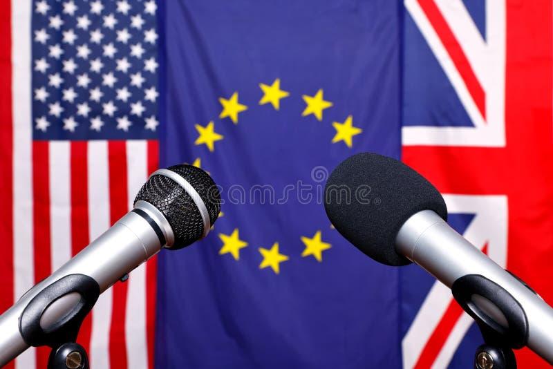 internationell press för konferens royaltyfria bilder