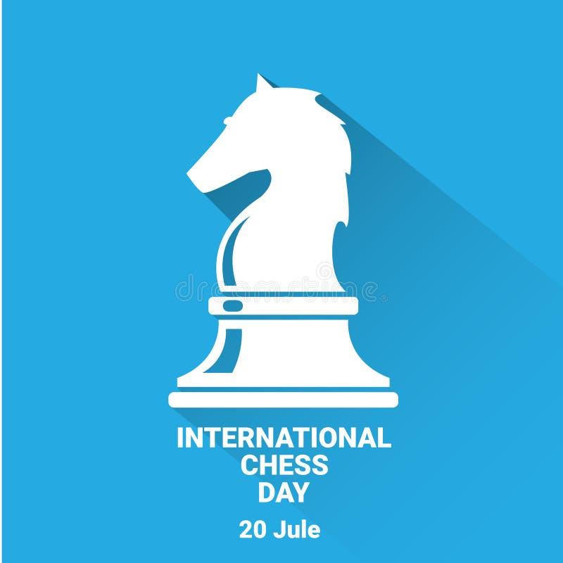 Internationell schackdagbakgrund vektorschack royaltyfri illustrationer