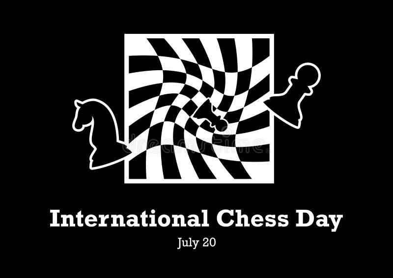 Internationell schackdagvektor vektor illustrationer