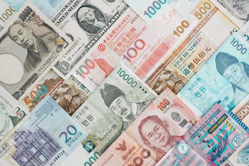 Internationell sedelbakgrund, åtskilligt valutabegrepp f arkivfoton