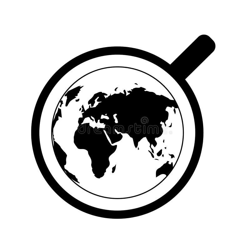 Internationell tedag Jordbruks- feriebegrepp Kupa av tea, bästa beskådar Kontinentkonturer royaltyfri illustrationer
