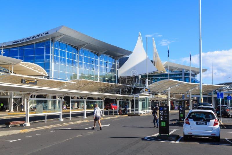 Internationell terminal, Auckland flygplats, Nya Zeeland arkivbild