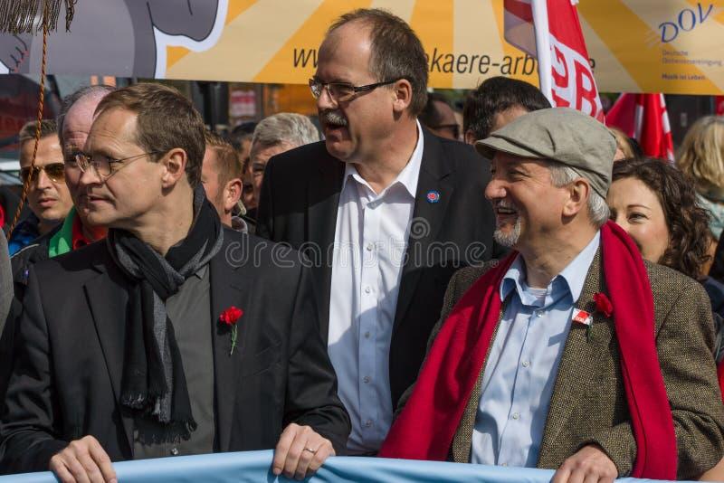 Internationell Workers' Dag 1 Maj 2016, Berlin, Tyskland arkivfoto