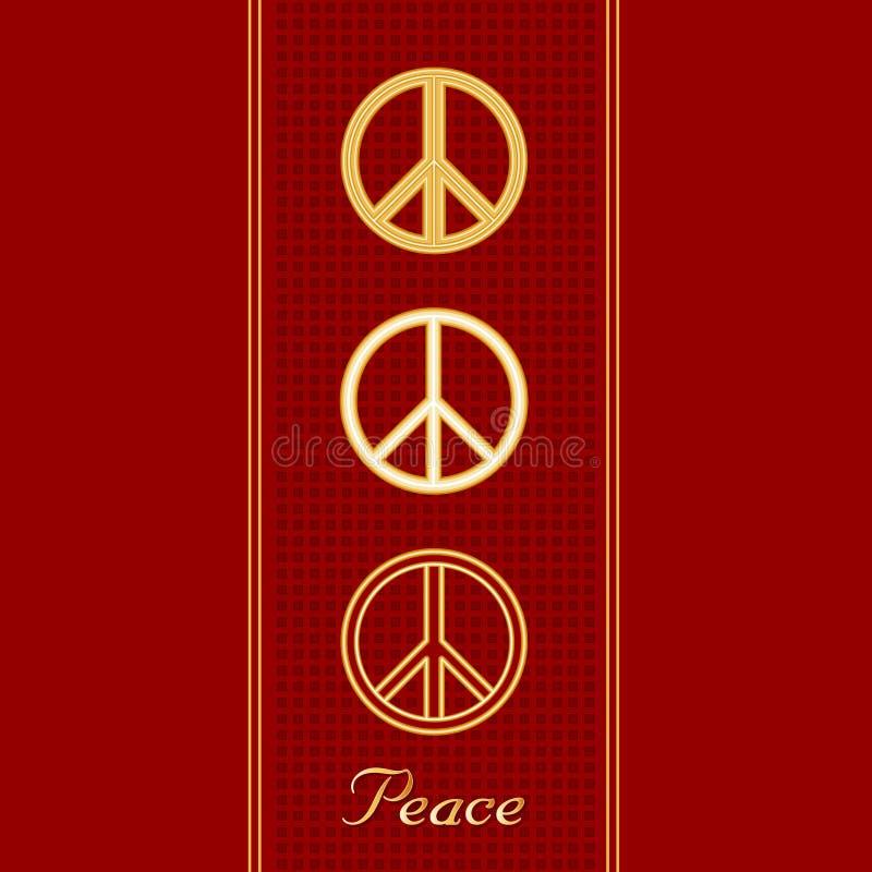 internationella fredsymboler stock illustrationer