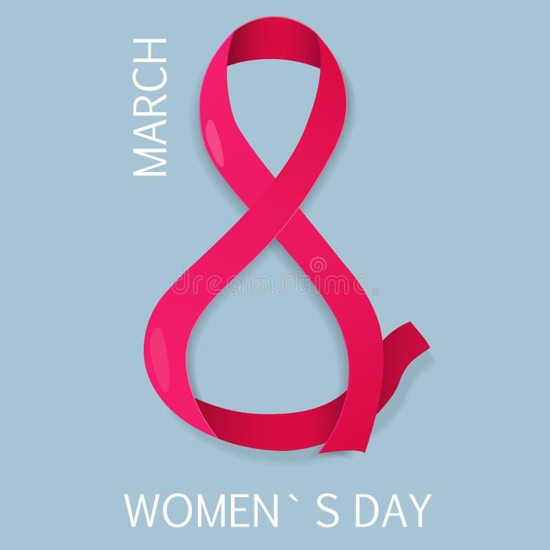 8 internationella kvinnors för marsch dag också vektor för coreldrawillustration vektor illustrationer