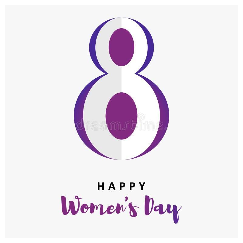 Internationella kvinnors f?r mars 8 dag internationellt royaltyfri illustrationer