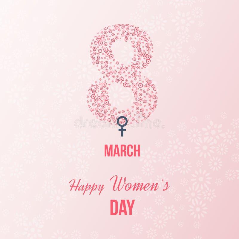 Internationella lyckligt kvinnors dagbegrepp stock illustrationer