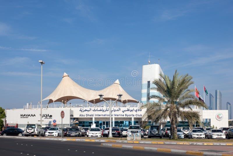 Internationella Marine Sports Club i Abu Dhabi arkivbilder