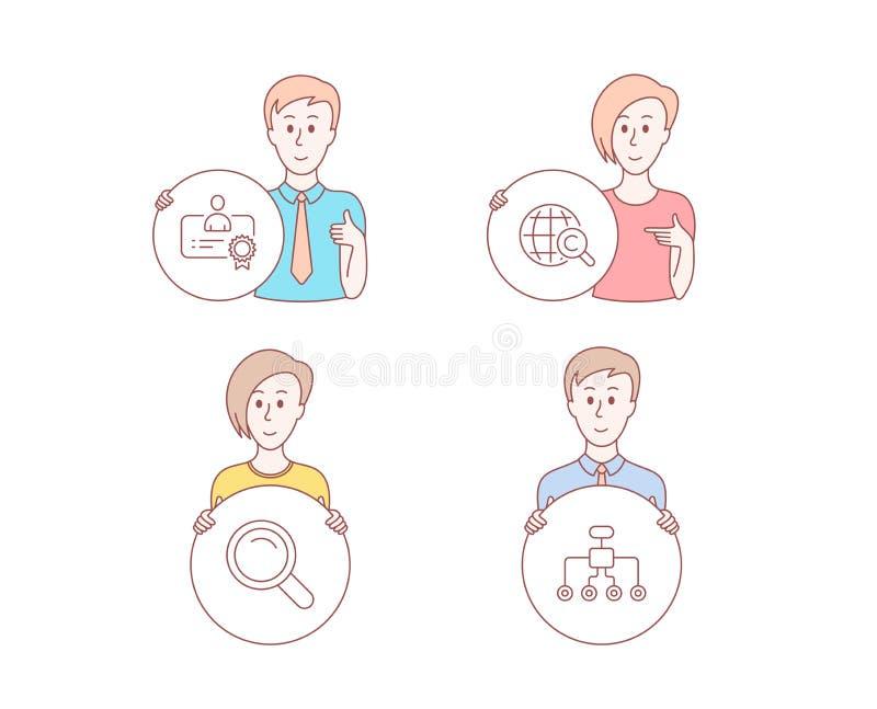 Internationella opyright för ¡ för Ã- Â, certifikat- och sökandesymboler Omstruktureringstecken vektor royaltyfri illustrationer