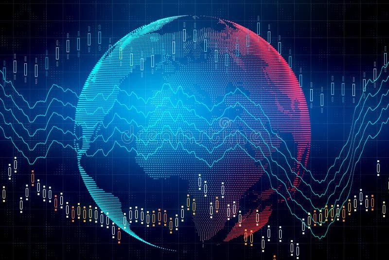 Internationellt affärs- och finansbegrepp royaltyfri foto