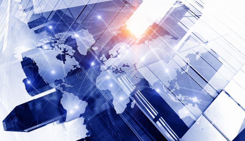 Internationellt affärspartnerskap Blandat massmedia Blandat massmedia royaltyfri illustrationer