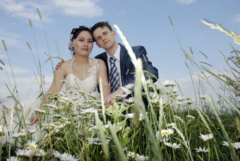 internationellt bröllop arkivbilder