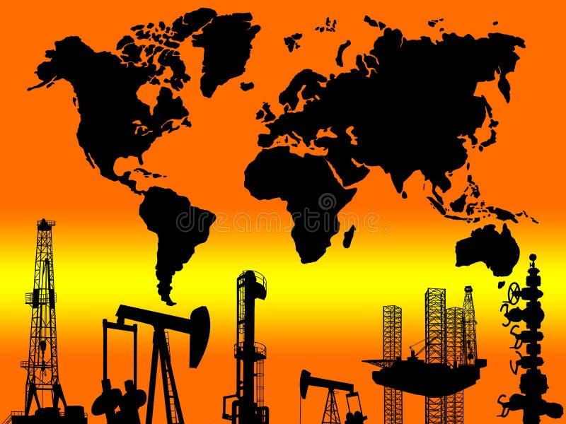 INTERNATIONELLT GLOBALT BEGREPP FÖR BRANSCH FÖR OLJE- GAS royaltyfri fotografi