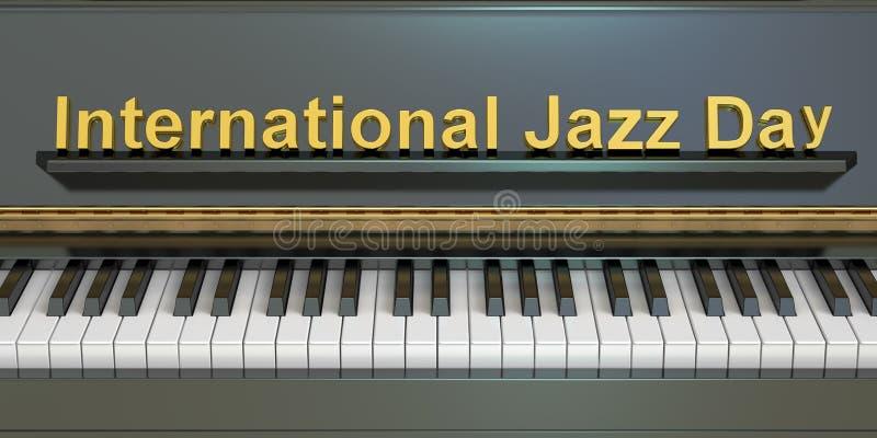 Internationellt Jazz Day begrepp royaltyfri illustrationer