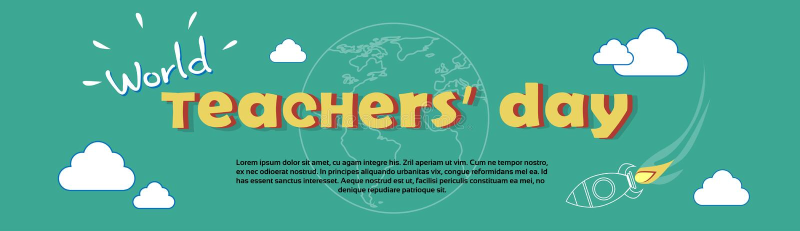Internationellt lärareDay World Holiday baner vektor illustrationer